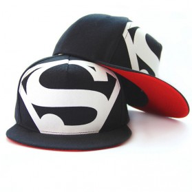 Topi Superman Hip Hop Snapback Caps Hats Unisex - Black
