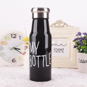 Botol Minum Plastik My Bottle 500ml - SM-8456 - Black