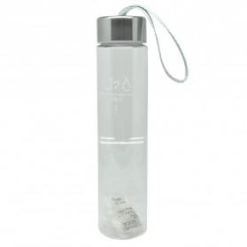 Botol Minum Plastik Tabung Transparan Clear 280 ml - SM-8253 - Transparent