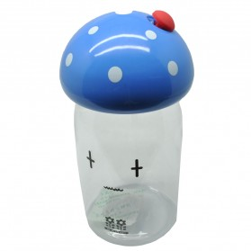 Botol Minum Jamur Emotion Unbreakable Bottle 350ml - SM-8390 - Blue - 1