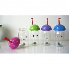 Botol Minum Jamur Emotion Unbreakable Bottle 350ml - SM-8390 - Blue - 5