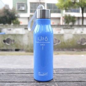 Botol Minum H2O a Healthy Life Unbreakable Bottle 600ml - SM-8229 - Blue - 2