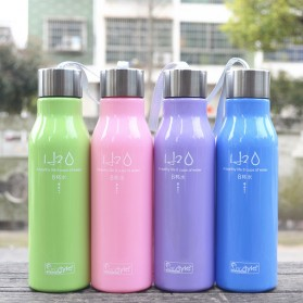 Botol Minum H2O a Healthy Life Unbreakable Bottle 600ml - SM-8229 - Blue - 3
