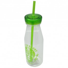 Botol Minum Skull Life is Short Drink Bottle 550ml - SM-8471 - Green