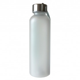 Botol Minum Plastik Tabung Clear Color Frosted 550 ml - SM-8198 - White