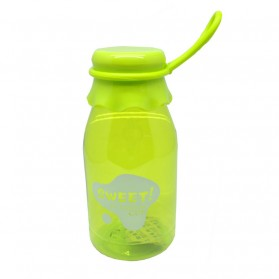 Botol Minum Sweet Fashion Cup Transparant Color 350ml - SM-8405 - Green