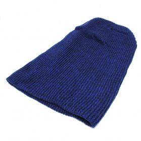 Kupluk Wanita Ski Baggy Knitted Beanie - Blue