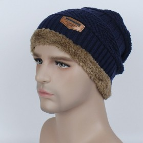 Song Ting Kupluk Wool Winter Beanie Hat - Dark Blue