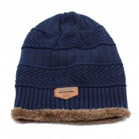 Song Ting Kupluk Wool Winter Beanie Hat - Dark Blue - 2