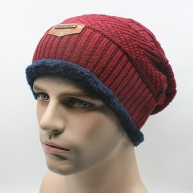 Song Ting Kupluk Wool Winter Hat Beanie - Red