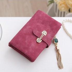Dompet Kulit Wanita Bahan Nubuck - Red - 1