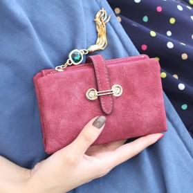 Dompet Kulit Wanita Bahan Nubuck - Red - 4