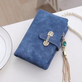 Dompet Kulit Wanita Bahan Nubuck - Blue