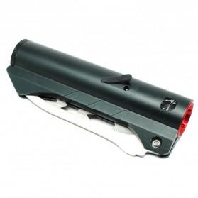 Pisau Lipat Multifungsi 2 in 1 Portable Knife Survival Tool EDC with Senter LED - YF2003 - Black - 2
