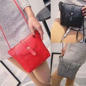 Tas Selempang Wanita Crossbody Purse Clutches Handbag - Black - 4