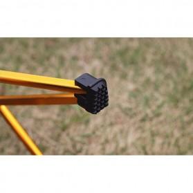 Ostway Kursi Lipat Outdoor Fishing Stool Chair - AM28320 - Black/Gray - 4