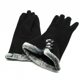 NUANHONGHONG Sarung Tangan Wanita Touch Screen Winter Women Gloves - ST003 - Black