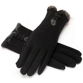 NUANHONGHONG Sarung Tangan Wanita Touch Screen Winter Women Gloves - ST003 - Black - 2