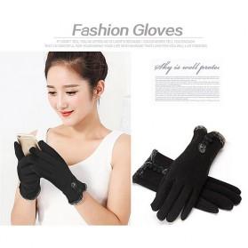 NUANHONGHONG Sarung Tangan Wanita Touch Screen Winter Women Gloves - ST003 - Black - 3