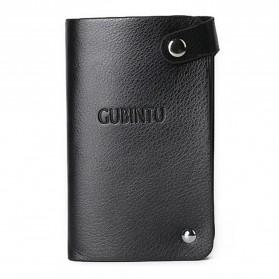 GUBINTU Dompet Kulit Penyimpanan Kartu Bisfold Design - G007 - Black - 2