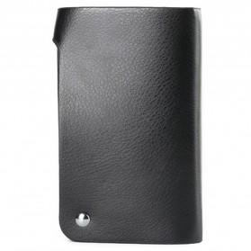 GUBINTU Dompet Kulit Penyimpanan Kartu Bisfold Design - G007 - Black - 3