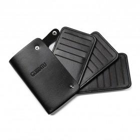 GUBINTU Dompet Kulit Penyimpanan Kartu Bisfold Design - G007 - Black - 4