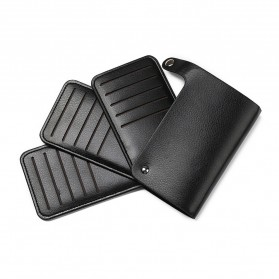 GUBINTU Dompet Kulit Penyimpanan Kartu Bisfold Design - G007 - Black - 5