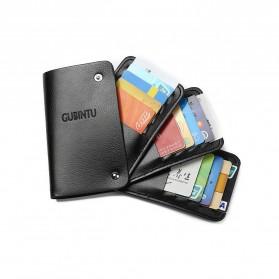 GUBINTU Dompet Kulit Penyimpanan Kartu Bisfold Design - G007 - Black - 6