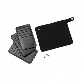 GUBINTU Dompet Kulit Penyimpanan Kartu Bisfold Design - G007 - Black - 8