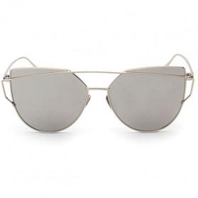 RunBird Kacamata Wanita Cat Eye Sunglasses Classic - 1904 - Silver