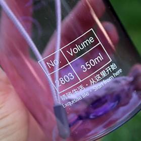 Botol Minum BPA Free Colorful Unbreakable Bottle 350ml - SM-8033 - Blue - 4