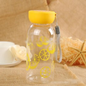 Botol Minum Plastik BPA Free Fruit Infuser 380ml - SM-8436 - Orange