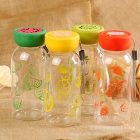 Botol Minum Plastik BPA Free Fruit Infuser 380ml - SM-8436 - Orange - 2