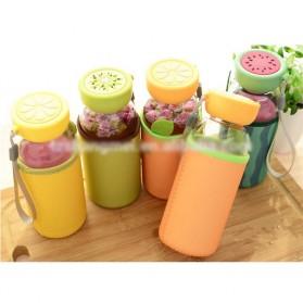 Botol Minum Plastik BPA Free Fruit Infuser 380ml - SM-8436 - Orange - 3