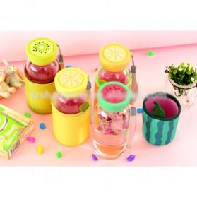 Botol Minum Plastik BPA Free Fruit Infuser 380ml - SM-8436 - Orange - 5