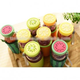 Botol Minum Plastik BPA Free Fruit Infuser 380ml - SM-8436 - Orange - 7