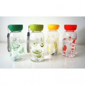 Botol Minum Plastik BPA Free Fruit Infuser 380ml - SM-8436 - Orange - 8