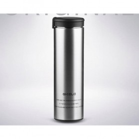 QKELLA Botol Minum Thermos Stainless Steel 450ml - QBW-001 - Silver