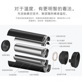 QKELLA Botol Minum Thermos Stainless Steel 450ml - QBW-001 - Silver - 3