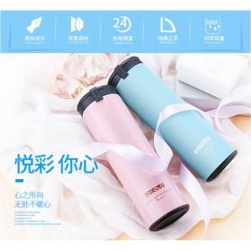 QKELLA Botol Minum Thermos Stainless Steel 450ml - QBW-001 - Blue - 3