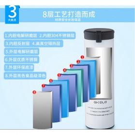 QKELLA Botol Minum Thermos Stainless Steel 450ml - QBW-001 - Blue - 5