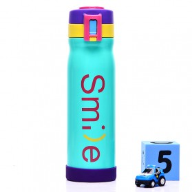 Botol Minum Thermos Stainless Steel My Smile 500ml - Blue