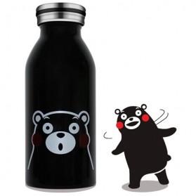 Botol Minum Stainless Steel Anak Gambar Kartun 350ml - Black