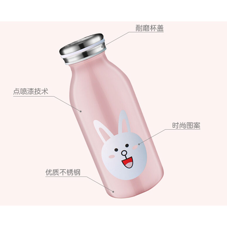 ... Botol Minum Stainless Steel Anak Gambar Kartun 350ml - Black - 4 ...