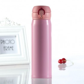 Vacuum Flask Botol Minum Thermos Stainless Steel 500ml - Pink