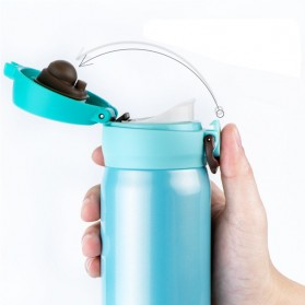 OneTwoCups Vacuum Flask Botol Minum Thermos Stainless Steel 500ml - 304 - Black - 4