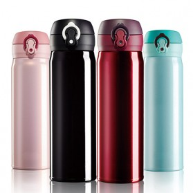 OneTwoCups Vacuum Flask Botol Minum Thermos Stainless Steel 500ml - 304 - Black - 5