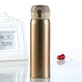 Vacuum Flask Botol Minum Thermos Stainless Steel 500ml - Golden