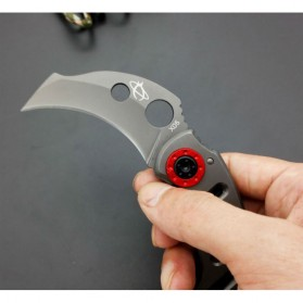 KNIFEZER Pisau Karambit Sabit Mantis Collector Hunting Knife 165mm - MK-2 - Blue - 7