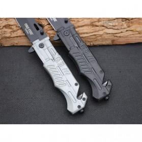KNIFEZER Pisau Saku Lipat Portable Knife Survival Tool Cold Steel - 57HRC - Silver - 5
